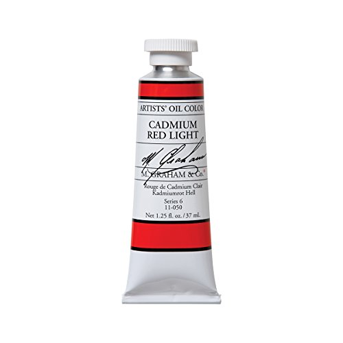 - M. Graham Artist Oil Paint Cadmium Red Light 1.25oz/37ml Tube