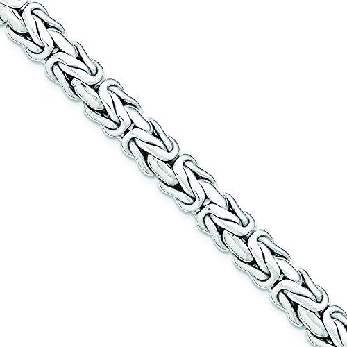 Argent Sterling poli Bracelet lien - 19 cm-JewelryWeb