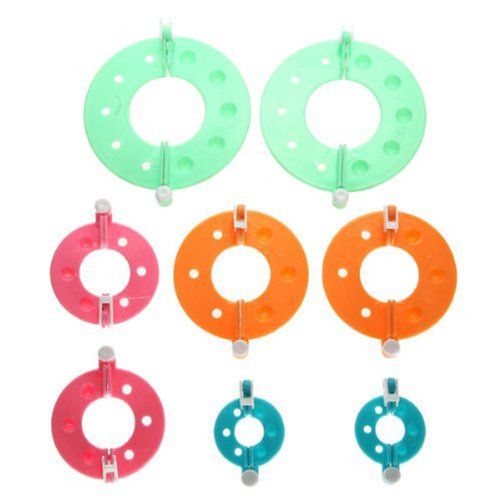Foxnovo 8pcs 4 tailles indispensable pompon Maker peluches boule Weaver DIY Needle Craft Tool Kit couleur al/éatoire