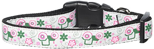 (Mirage Pet Products Tractors Dog Collar, Large, Pink)