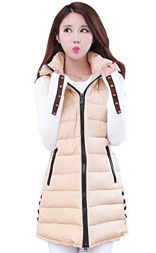 Padded Hooded Winter Sleeveless Zipper product image