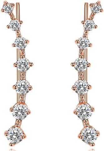 UMODE Jewelry 7 Tiny Cubic Zirconia CZ Diamond Cartilage Tragus Bar Wrap Ear Cuff Earrings For Women