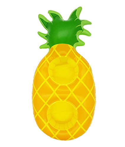 ANKIT Pineapple Inflatable Drink Float Holder - Floating Cup Holder for Two Drinks Pool Party Supplies 16''