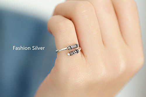 Generic Thai silver retro 925 sterling silver ring opening by Generic