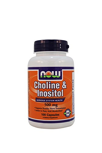 NOW Choline Inositol 500mg Capsules