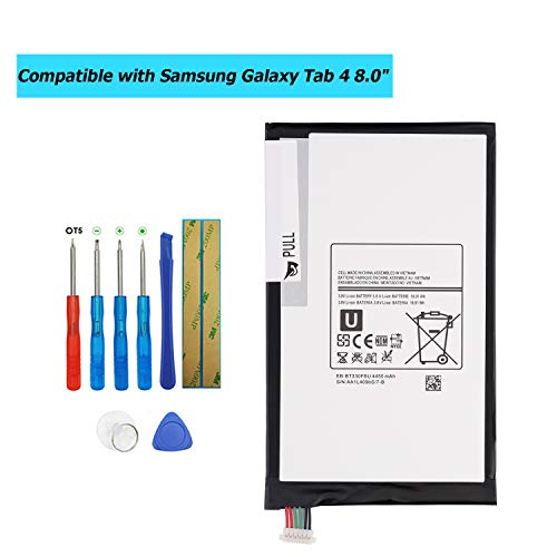 """EB-BT330FBE EB-BT330FBU Replacement Battery Compatible with Samsung Galaxy Tab 4 8.0"""",SM-T330NU,SM-T337A,SM-T337T,SM-T331,SM-T337V with Toolkit"""