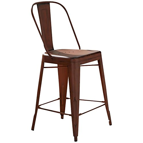 Liberty Furniture 179-B350524-O Vintage Dining Series Bow Back Counter Chair, Orange -