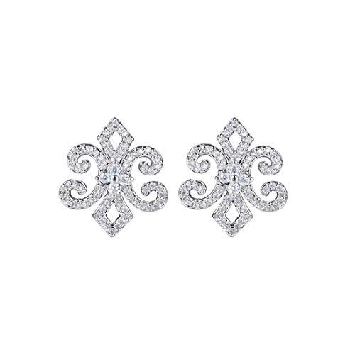 - Perfect house Personality Iris Flower Earrings S925 Silver Needle Hypoallergenic Simple Earrings Handmade Fashion