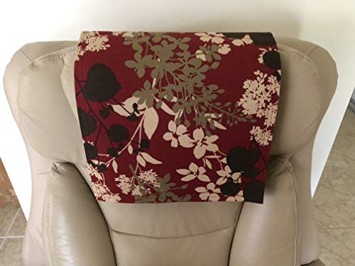 Stitch N Art Recliner Head Cover Furniture Protector Canvas-Montfleur Upholstery Size 14X30 Sofas Loveseats Theater Seating Chaises