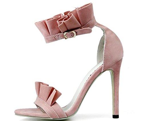 Lotus Sandales xie Feuille 42 Shopping Velours Bord de fête élégance Mesdames de 34 PU 10cm p5xrw58nq