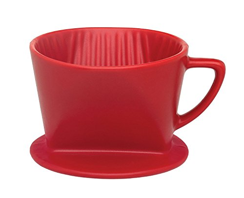 Cone Matte - HIC Filter Cone, Matte Red, Number 1-Size, Brews 1 to 2-Cups
