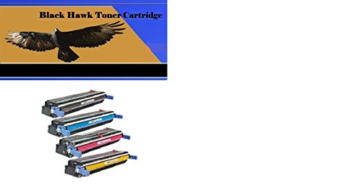 Hp C9731a Compatible Cyan Toner - BlackHawk Compatible Toner Cartridges Set For Use With HP Color LaserJet 5500 /5550 Printers -One Each Of C9730A Black, C9731A Cyan, C9732A Yellow and C9733A Magenta