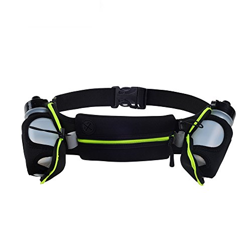 Running Belts Exercise Climbing Camping Cycling Runner Bag Waist Packs with 2 Free Water Bottles for Men & Women Monogram Oval Spoon