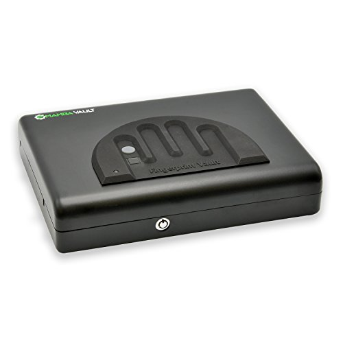 Mamba Vault Biometric Gun Safe (MV505B) Secure Handgun & Pistol Storage Box - Quick Access, Home Safety, Concealed Carry for 9mm.45 ACP, Heavy-Duty Steel