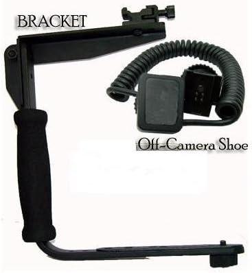 Rotating Flash Bracket Grip BP MicroFiber Cleaning Cloth D800E DSLR I-TTL Off Camera Shoe Flash Cord FOR Nikon D5200 D5300 D3200 D5100 D200 D100 D700 D70S D80 D70 D50 D5000 D3000 D300S D90 D40 D40X D60 D3 D2H D3X D7000 D3100 D5100 D800