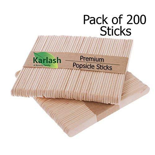 (200 Pcs Craft Sticks Ice Cream Sticks Natural Wood Popsicle Craft Sticks 4-1/2