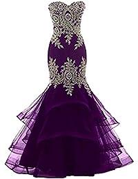 Womens Mermaid Evening Party Dresses Long Prom Dress Maxi Appliques D219