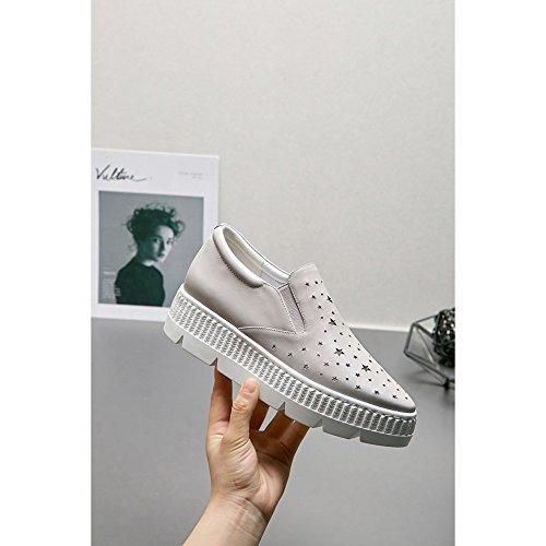 Plateauzolen Vrouwen Schoenen Klimplanten Wsxy-l0613 Patroon Aushöhlungsprozess Loopschoenen Lace Up Sneaker Fitness Sneakers, Grijze Kjjde