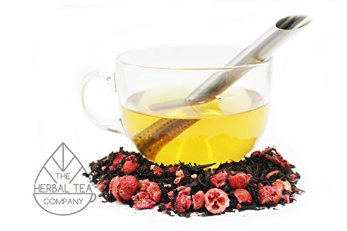 Holy Thistle Herb Blessed Loose Herb Black Cranberry Tea 100g With Lemon Flavour by The Herbal Tea Company