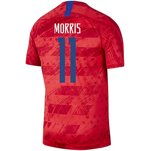 Morris #11 USA Away Men's Soccer Jersey 2019/20-RED (XL) ()