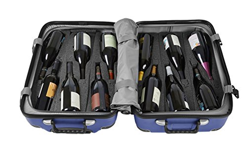 Wine Travel Suitcase & All-purpose Luggage (Standard Size) VGV Grande | Up to 12 Bottles (Blue)
