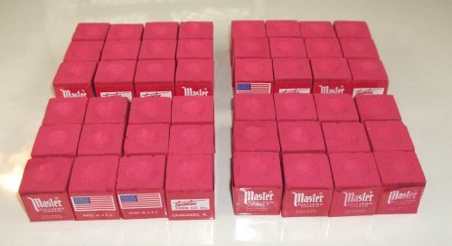 Masters Red Billiard Chalk - 4 Dozen