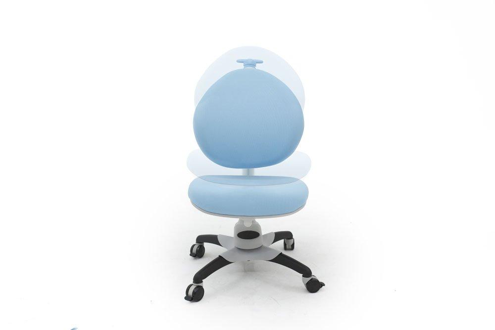 ApexDesk ALSC2533-BL Little Soleil DX Series Children's Height Adjustable Chair, Blue