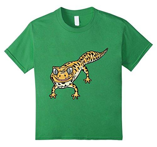 Kids Cute Smiling Leopard Gecko Lizard Cartoon T-Shirt 6 ...