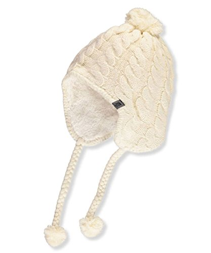 North Face Women Hats (The North Face Women's Fuzzy Earflap Beanie Vintage White/Vintage White One Size)
