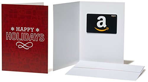 (Amazon.com $25 Gift Card in a Greeting Card (Holiday Icons Card)
