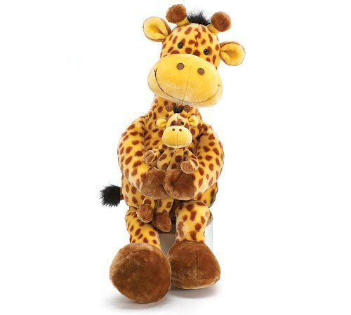 Large 32 Geri The Giraffe with Little Geri Stuffed Animal Toy by Geri The Giraffe Collection