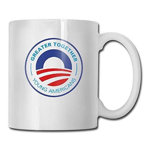 Custom Young American For Obama 2012 Vector Coffee Mug