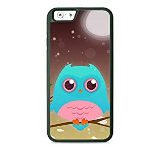 Case Fun Case Fun Turquoise Owl by DevilleART TPU Rubber Back Case Cover for Apple iPhone 6 4.7 inch