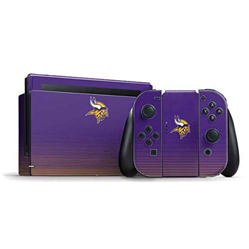 NFL Minnesota Vikings Nintendo Switch Bundle Skin - Minnesota Vikings Breakaway Vinyl Decal Skin For Your Switch Bundle