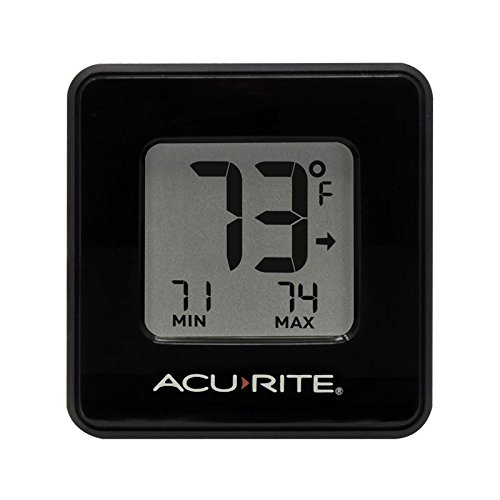 AcuRite 01186M Compact Indoor Thermometer with High and Low (Low Thermometer)