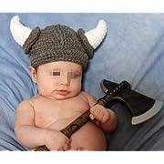 Baby Knit Hat Toddler Viking Beanie Crochet Hat Handmade Cap for Infant Boy Girl(0-2 Year)