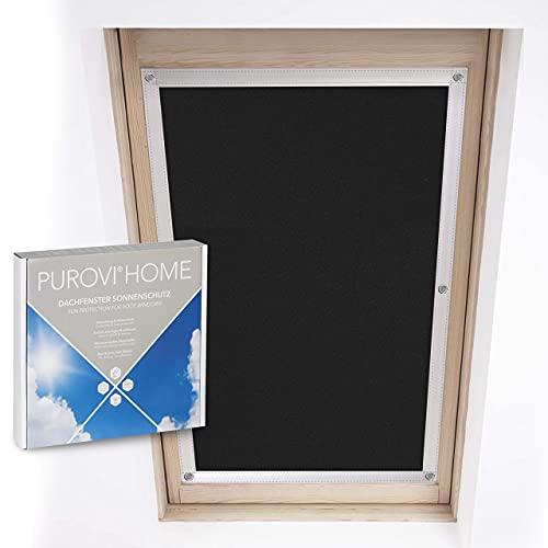 Purovi® Protección Solar térmica para Ventanas detecho | Protección térmica para Interiores | sin taladrar y sin Pegamento | para Ventanas Velux + Roto | Tamaño seleccionado: Roto 7/14-52 x 118 cm
