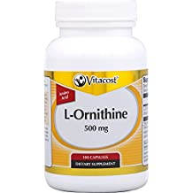 Vitacost L-Ornithine -- 500 mg - 100 Vegetarian Capsules