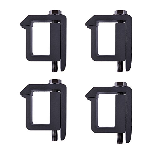 AA-Racks P-AC-05 Truck Cap/Camper Shell Mounting Clamp fit Chevy Silverado Sierra,Dodge Dakota Ram,Ford F150,Mitsubishi Raider,Nissan Titan,Toyota Tundra, Set of 4 - Black