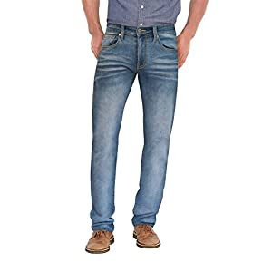 Ethanol Mens Super Comfy Straight Stretch Knit Jersey Denim Five Pocket Jean