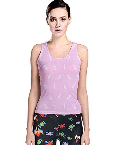 CowCow - Camiseta sin mangas - para mujer Pink Bird