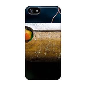 Rugged Skin Case Cover For Iphone 5/5s- Eco-friendly Packaging(tokyo Hanging Parrots)
