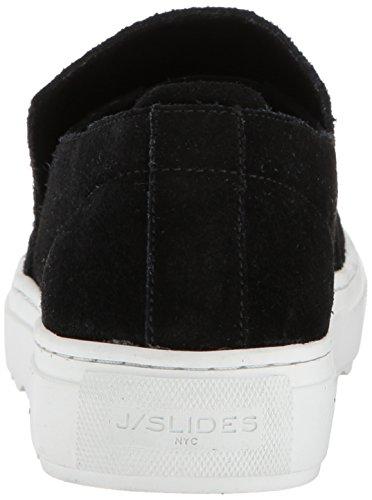 J Slides Jslides Dames Perrie Sneaker Zwart Suède