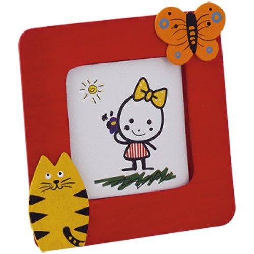 Lote de 30 Portafotos JUNGLA Rojo en madera natural con divertidos diseños de animales. Para fotos de hasta 6,2x6,2cm: Amazon.es: Bebé
