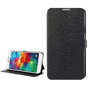 PU Leather Cover, Holder Case Funda para Samsung Galaxy S5 G900 (Black)