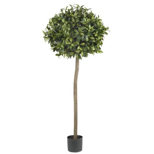 Nearly Natural 5310 Sweet Bay Ball Topiary Silk Tree, 5-Feet, - Topiary Bay Sweet