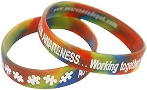 Giveaway: Autism Awareness Rainbow Bracelet Adult Size