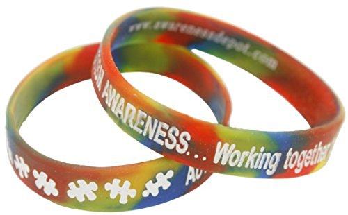 Americas & Americas Autism Awareness Rainbow Bracelet Youth ()