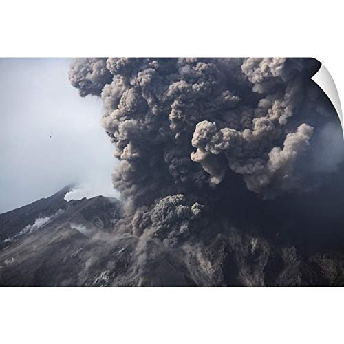 CANVAS ON DEMAND Sakurajima Eruption Kagoshima Japan Wall Peel Art Print, - Kagoshima Japan