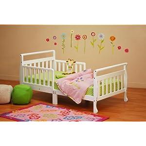 Athena Anna Sleigh Toddler Bed, White